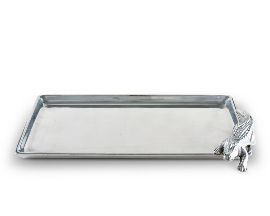 Arthur Court Alligator Tray Figural 6x12 104010