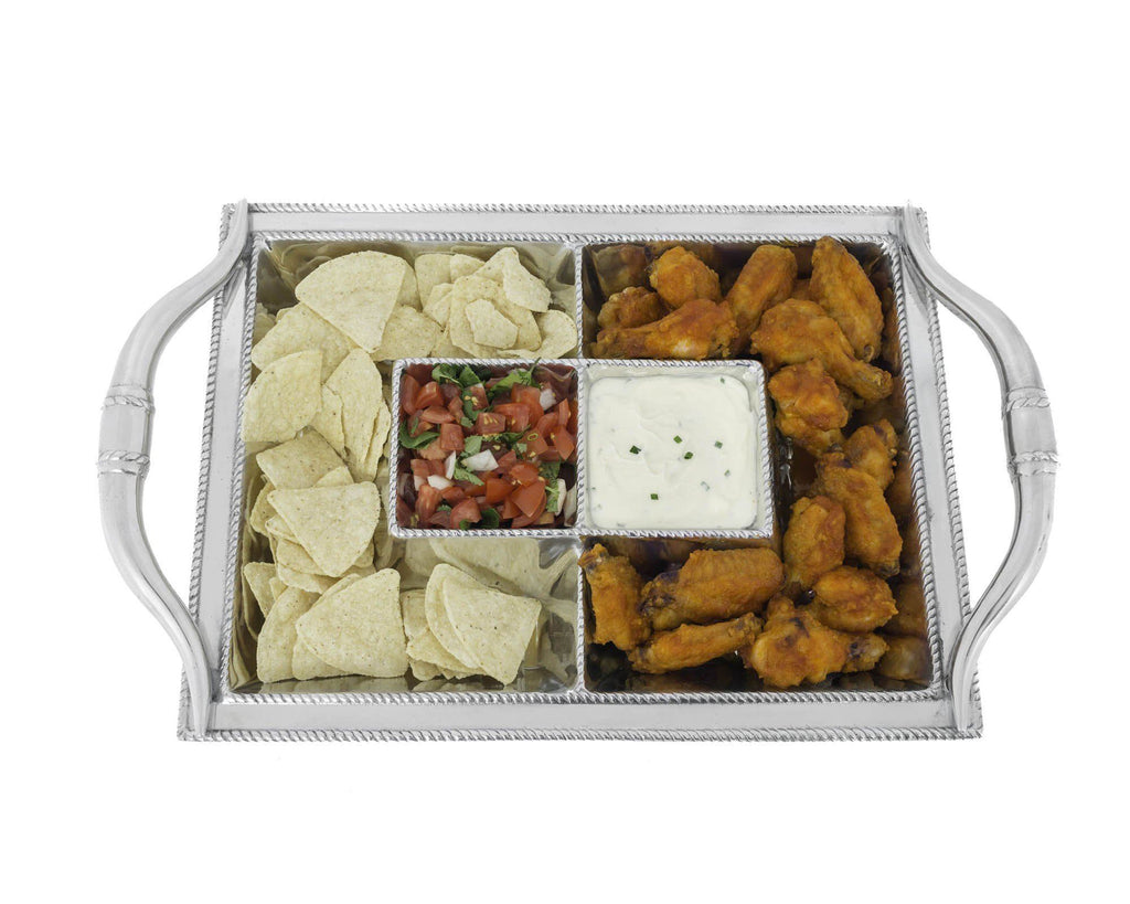 Arthur Court Metal Western Longhorn Chip and Dip Platter Sand Casted in Aluminum with Artisan Quality Hand Polished Designer Tanish-Free Ranch Decor 20.5 Inch Length