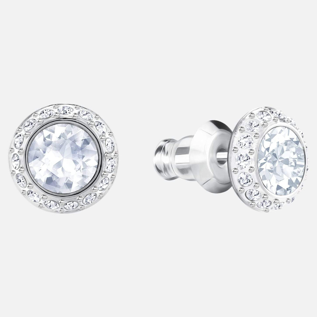 Swarovski Jewelry Angelic Pierced Earrings White Rhodium Plated 1081942