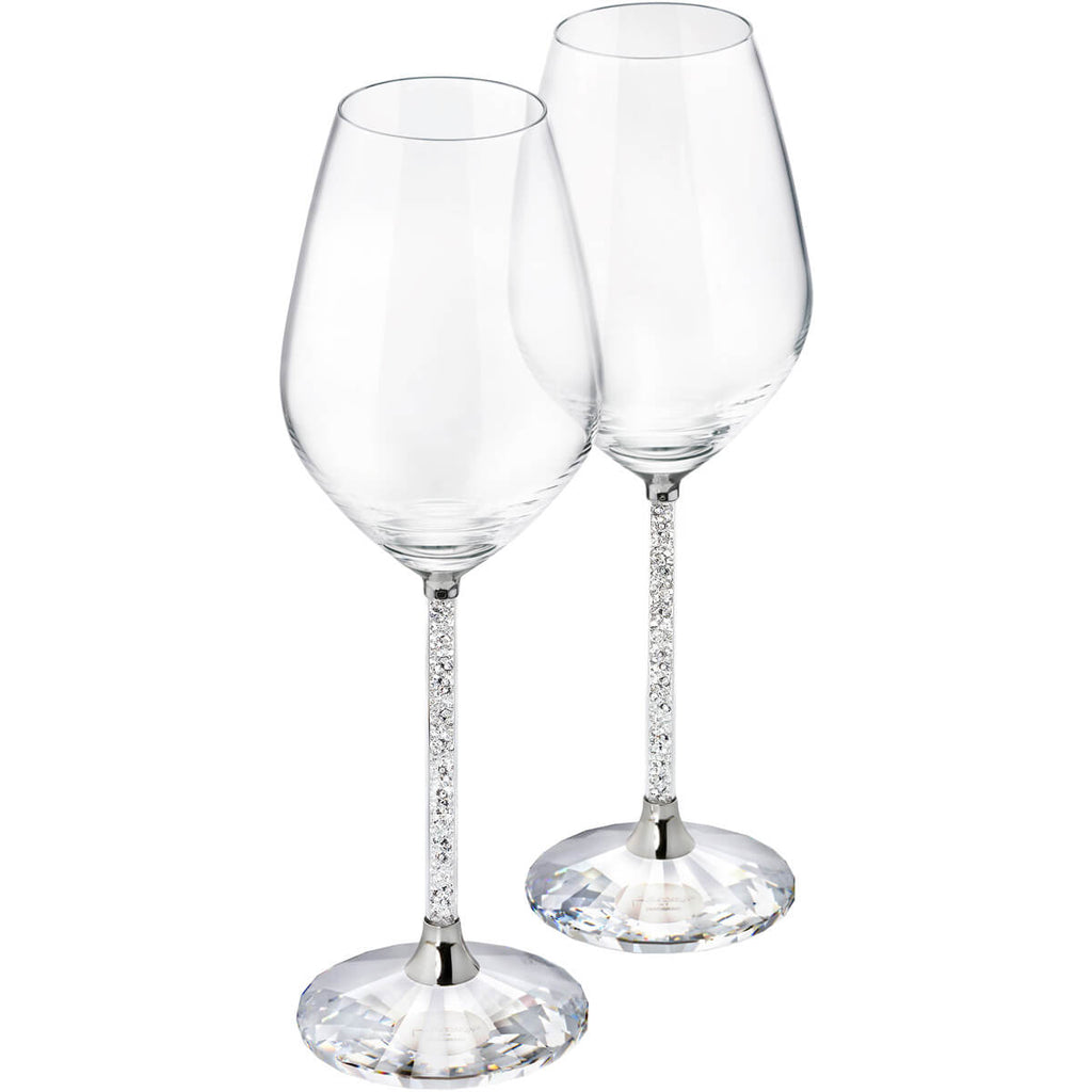 Swarovski Crystal line Red Wine Glasses Set 1095948