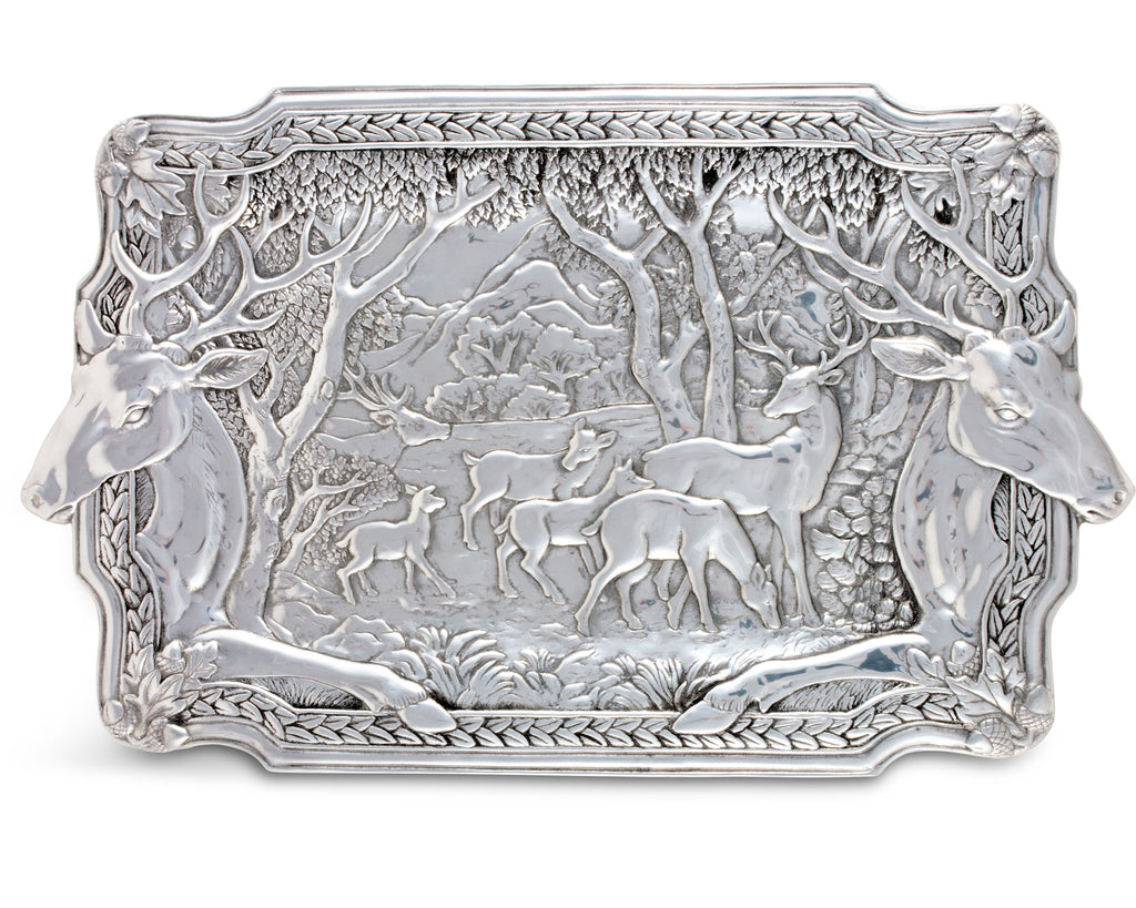 Arthur Court Elk Herd Oblong Serving Display Tray