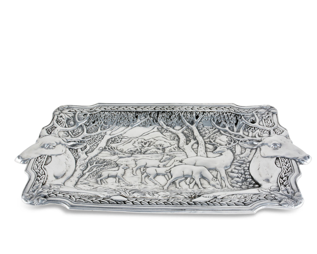 Arthur Court Elk Herd Oblong Tray 112B14