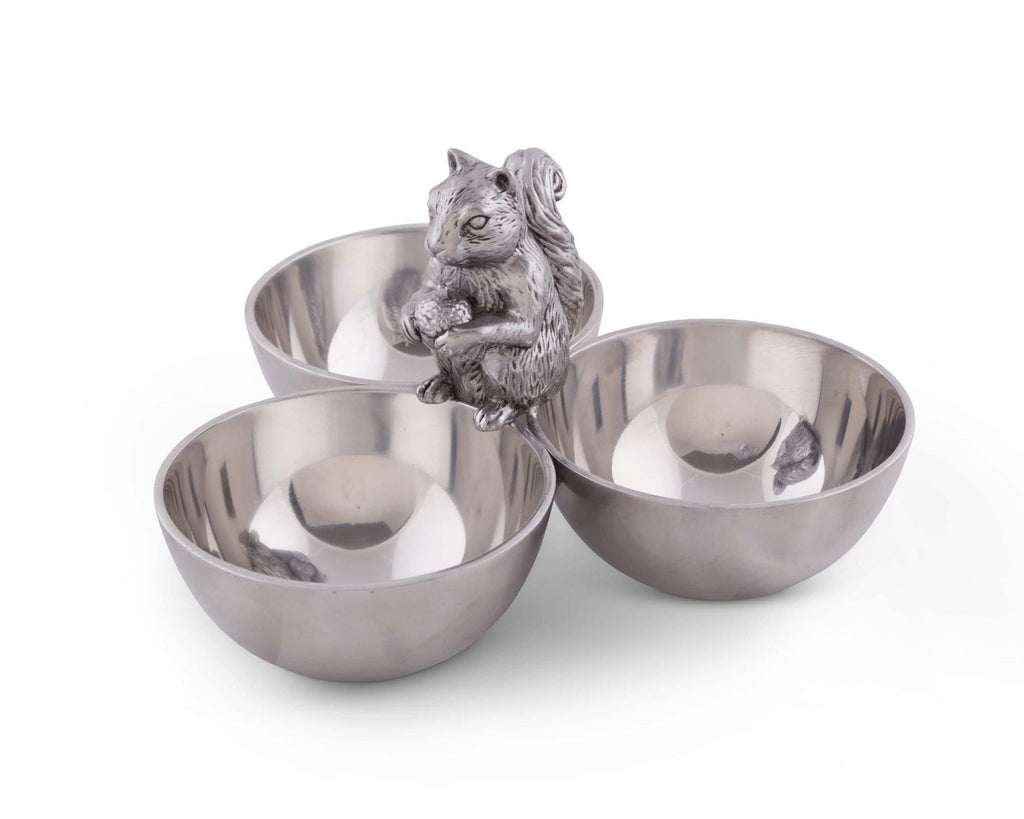 Arthur Court Squirrel 3 Nut Bowl 114L12