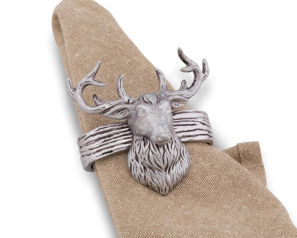 Arthur Court Elk Head Napkin Rings 115L12