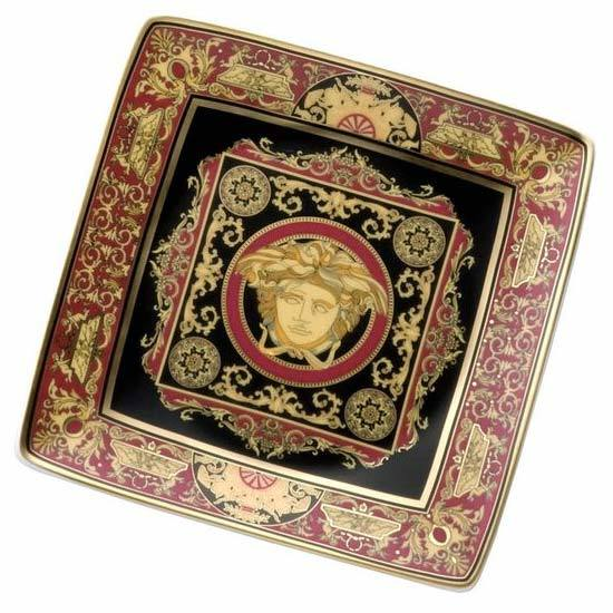 Versace Medusa Red Canape Dish 11940-409605-15253