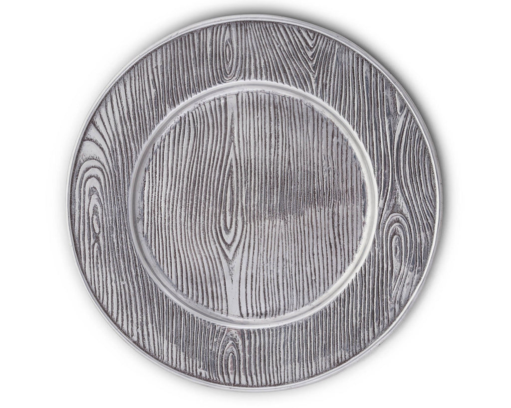 "Arthur Court Designs Aluminum Wood Grain 12"" Charger"