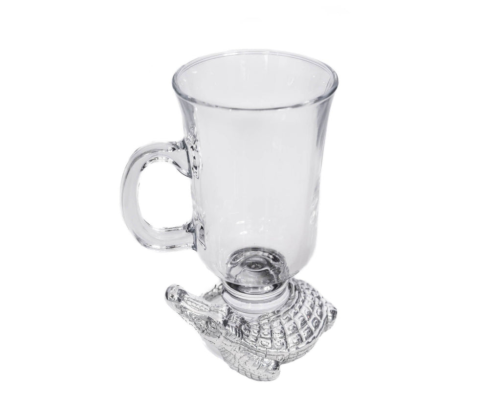 Arthur Court Designs 6 inch tall Aluminum Alligator Glass Mugs