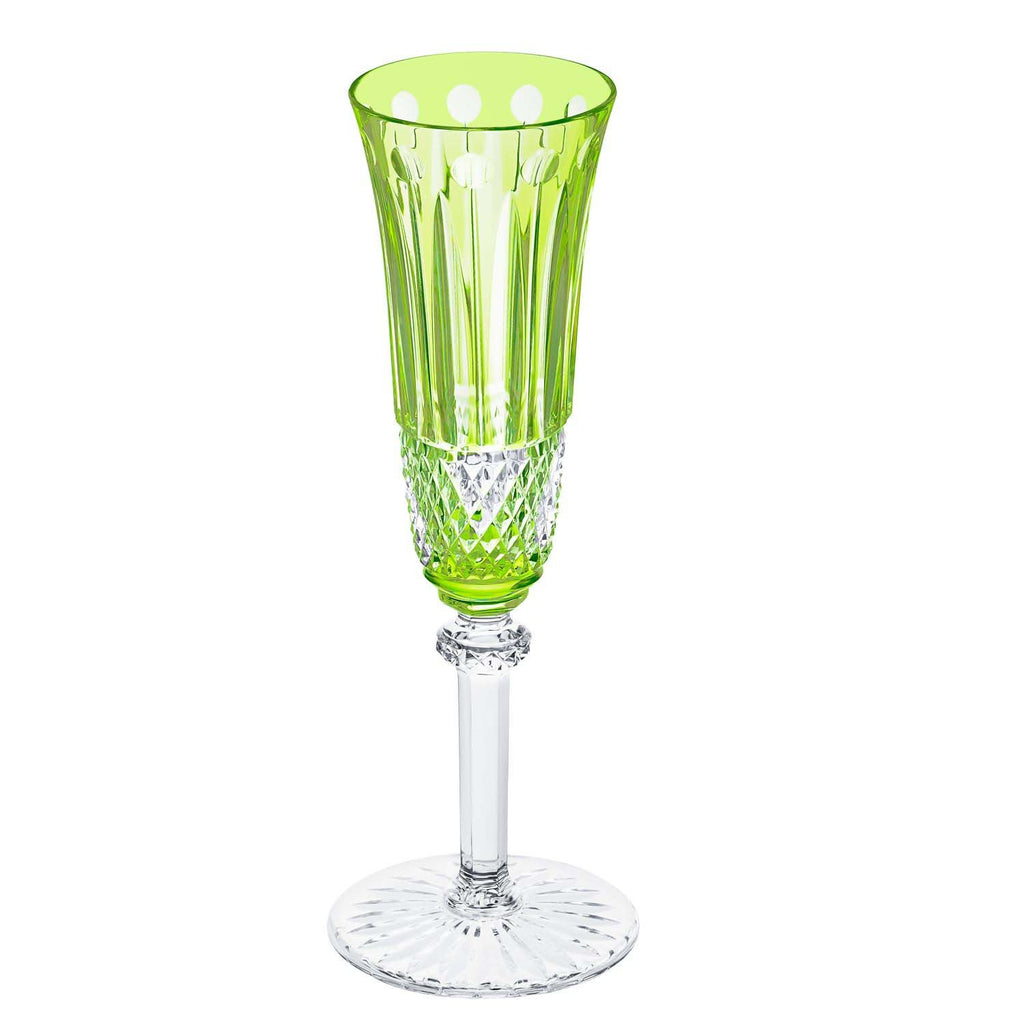 St Louis Crystal Tommy Chartreuse-Green Champagne Flute