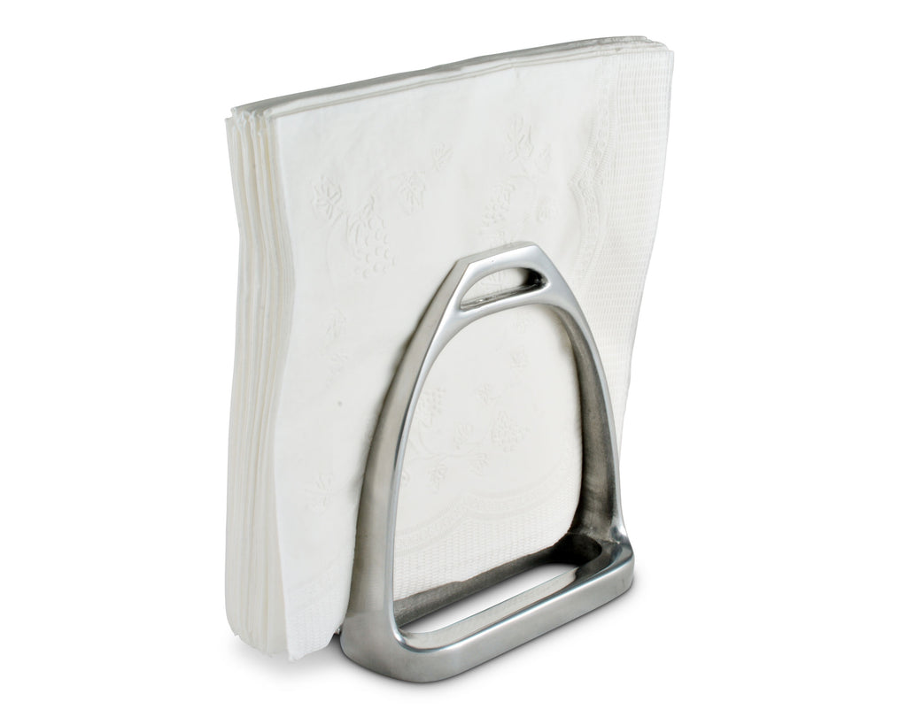 "Arthur Court Horse Stirrup Equestrian Paper Napkin Holder for Kitchen Countertops, Dinner Tables, Picnic Tables - Outdoor Use,  Organization for Multiple Sizes - Durable Metal - 5"" H x 35"" W x 4.5 L"
