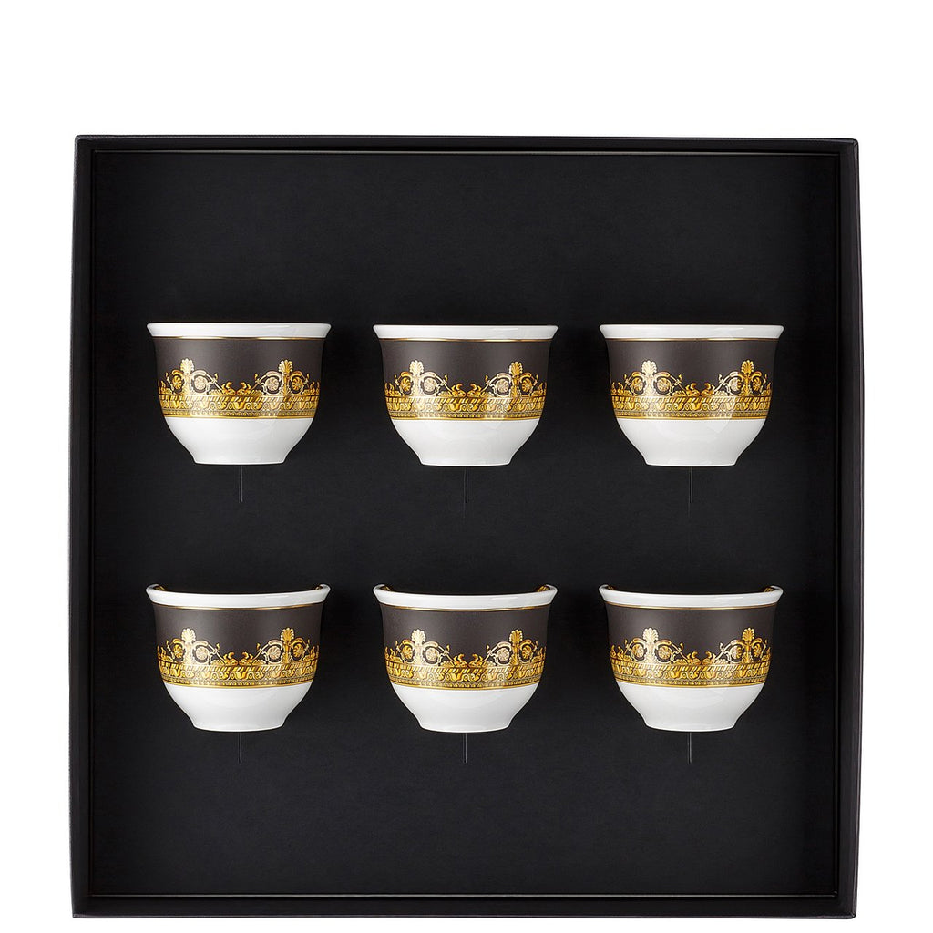 Versace I Love Baroque Set Of 6 Mugs Small No Handle 14413-403651-28403