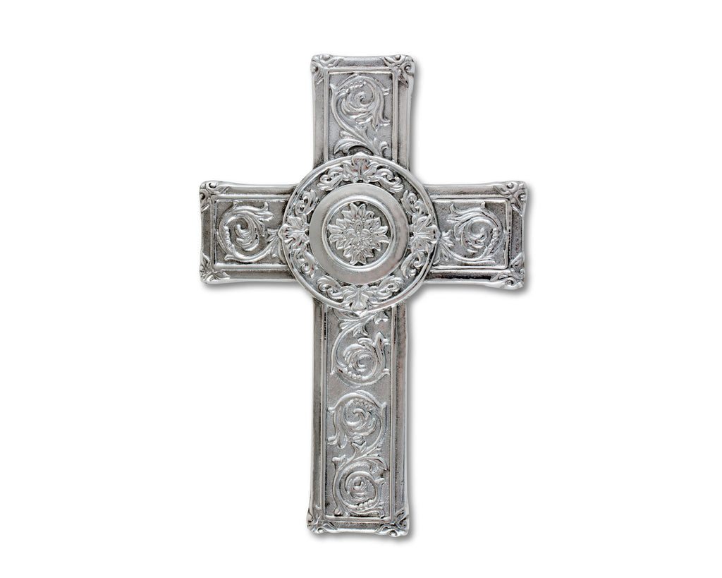 "Arthur Court Designs Aluminum Metal 10"" Wall Hanging Cross"