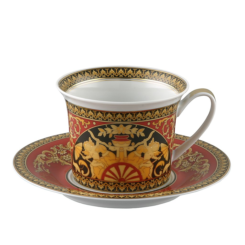 Versace Medusa Red Breakfast Cup & Saucer 19315-409605-14660