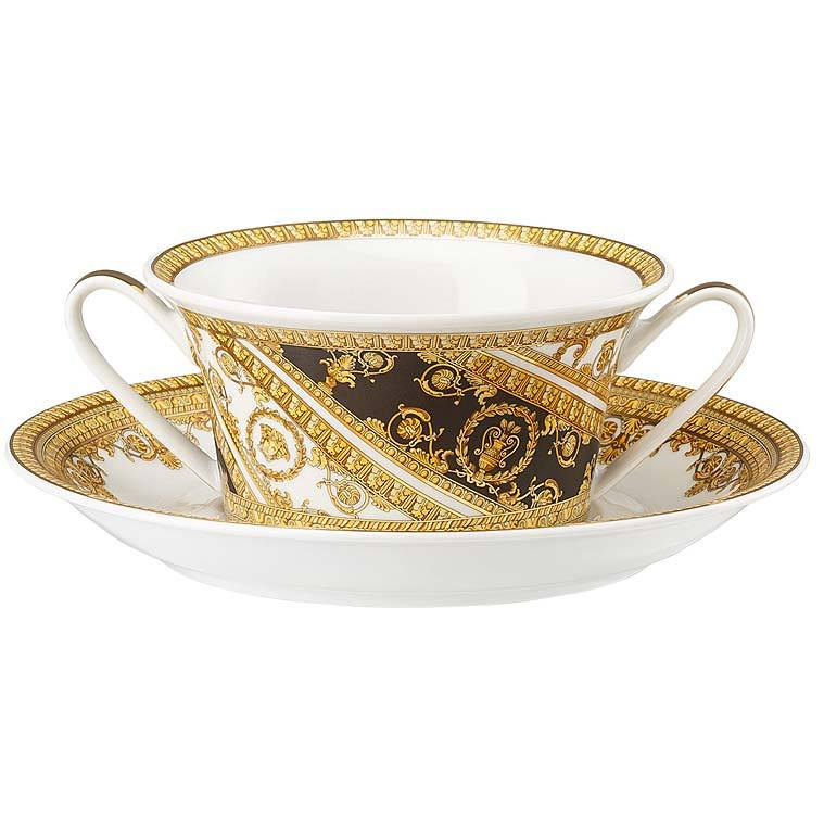Versace I Love Baroque Cream Soup Cup & Saucer 19325-403651-10420