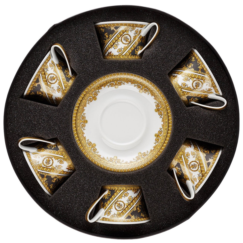 Versace I Love Baroque Tea Cup & Saucer Set Six Round Hat Box 19325-403651-29253