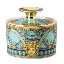 Versace La Scala Del Palazzo Verde Sugar Bowl Covered 19335-403664-14330