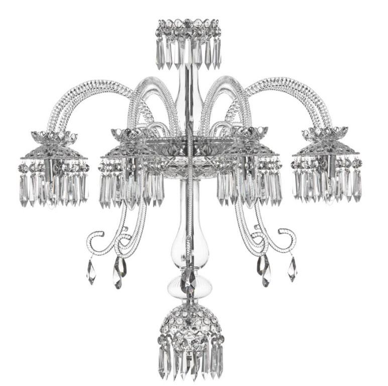 St Louis Crystal 8 Light Royal Renversant Chandelier