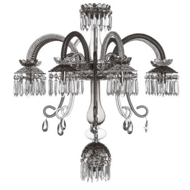 St Louis Crystal 8 Light Royal Renversant Clear Flannel Grey Chandelier