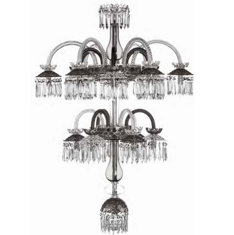 St Louis Crystal 18 Light Royal Renversant Flannel Grey Chandelier