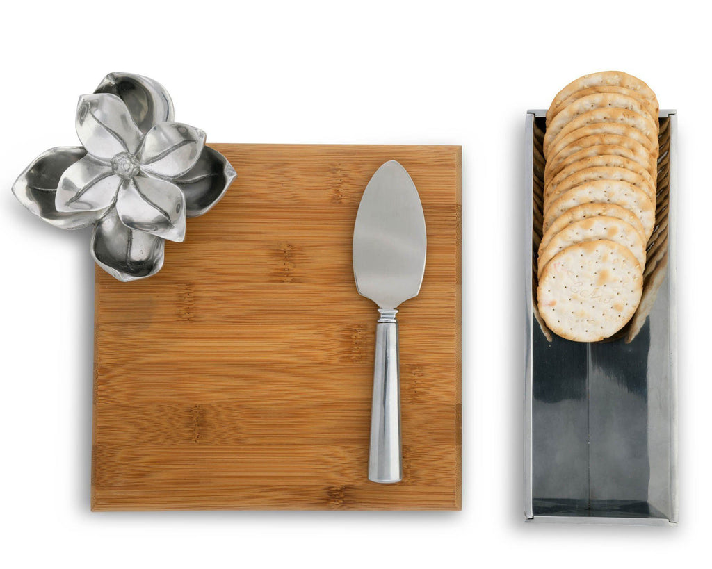 Arthur Court Magnolia Bamboo Cheese Set