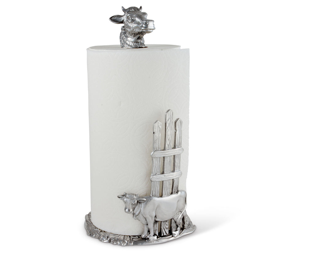 Arthur Court Cow Paper Towel Holder 293W12