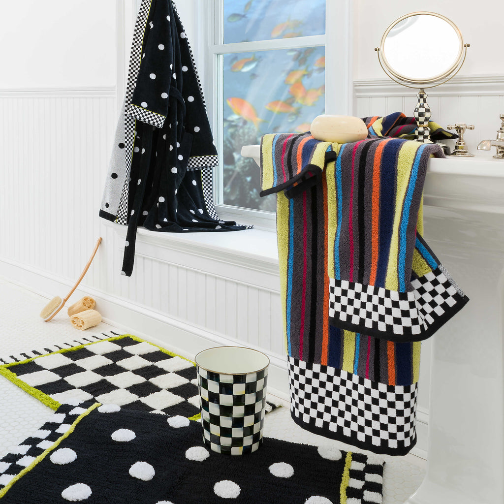 MacKenzie Childs Dotty Bath Rug 347-1300R