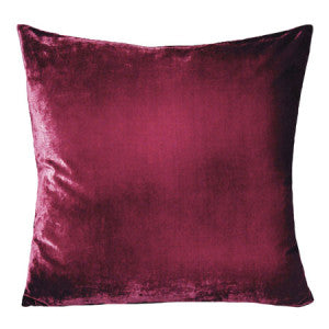"Kevin O'Brien Ombre Velvet 22"" Pillow Raspberry Color"