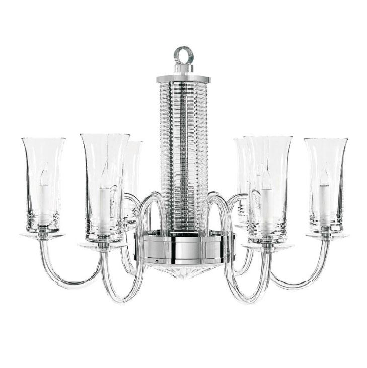 St Louis Crystal Adiante 6 Light Chandelier
