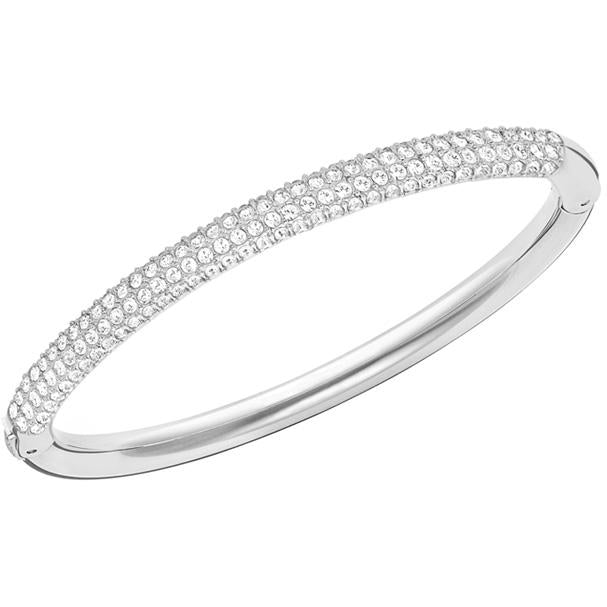 Stone Mini Bangle White Rhodium Plating 5032846