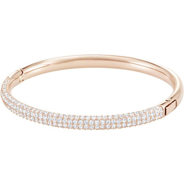 Stone Mini Bangle White Rose Gold Plating 5032850