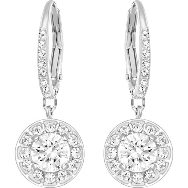 Swarovski Attract Light Pierced Earrings White Rhodium Plating 5142721