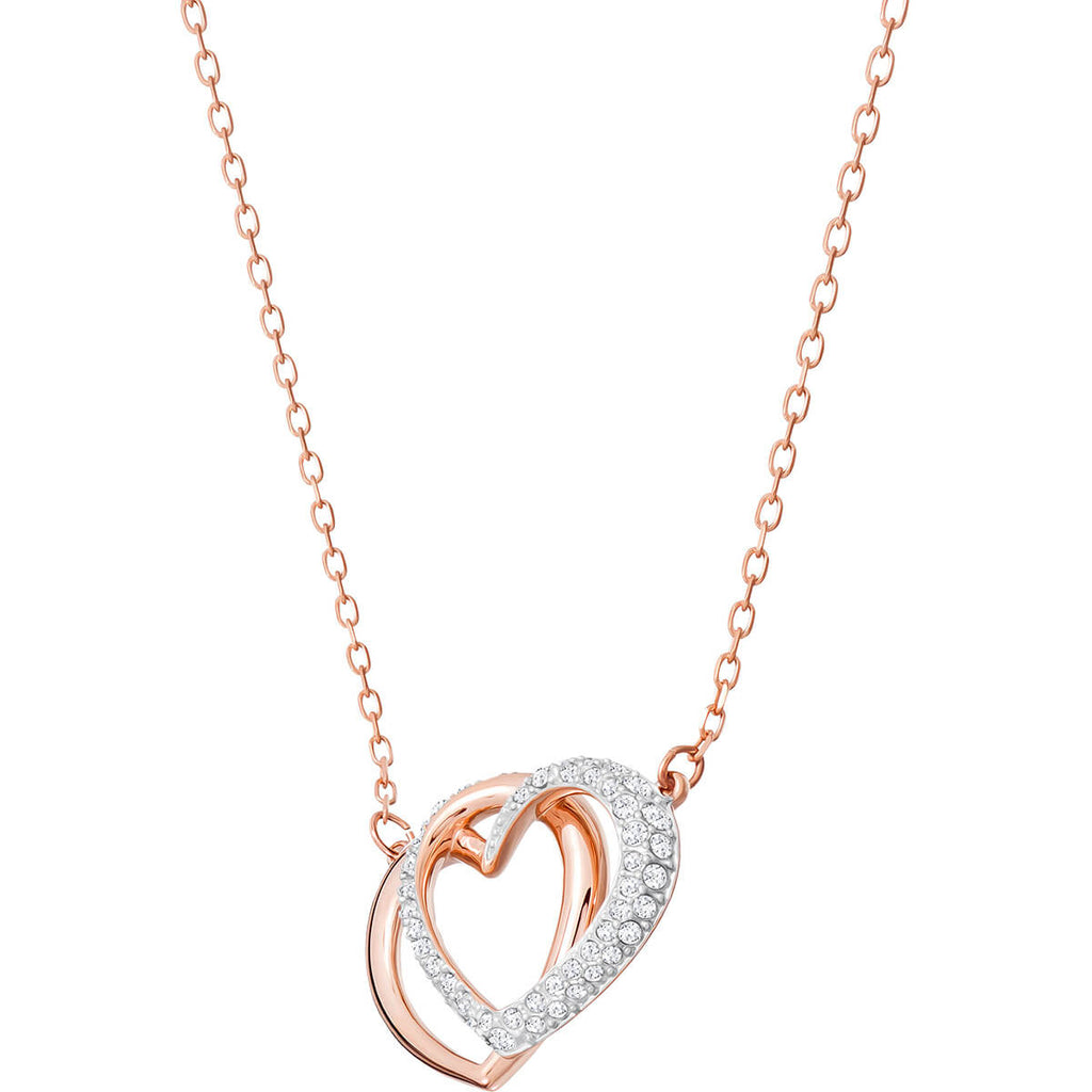 Swarovski Jewelry Dear Necklace Medium White Rose Gold Plating 5194826