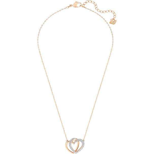 Dear Necklace Medium White Rose Gold Plating 5194826