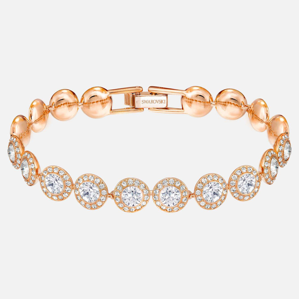 Swarovski Jewelry Angelic Bracelet White Rose Gold Tone Plated 5240513