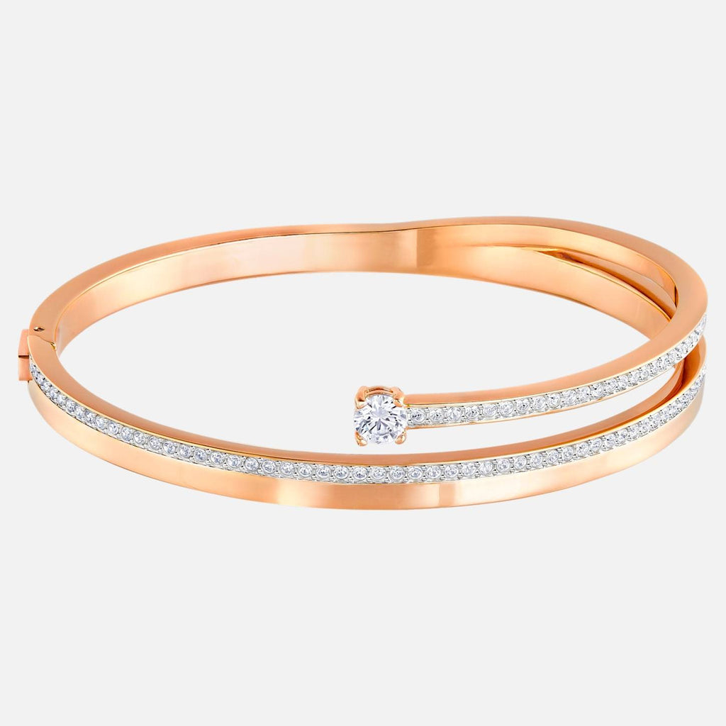 Swarovski Jewelry Swarovski Jewelry Fresh Bangle White Rose Gold Tone Plated Large 5257565