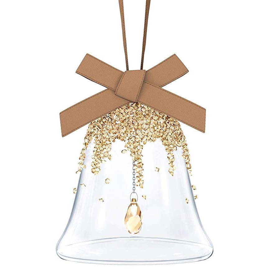 Swarovski Crystal Bell Golden Ornament 12853