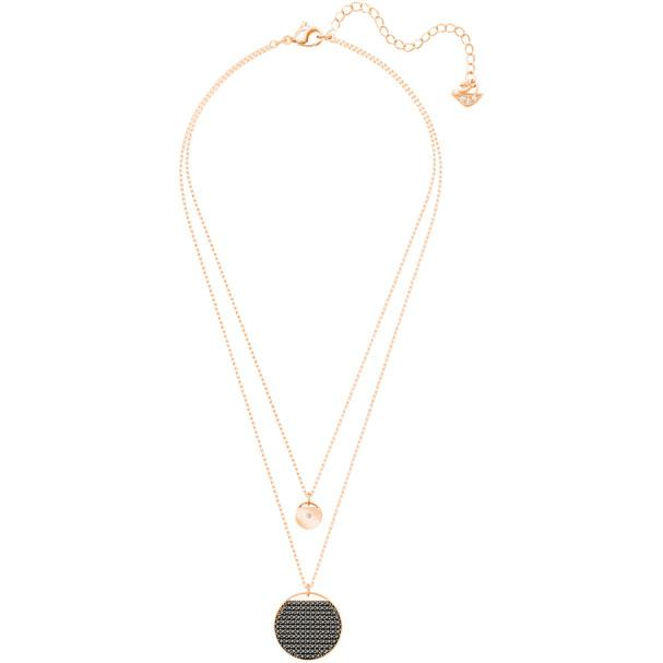 Ginger Layered Pendant Gray Rose Gold Plating 5347299