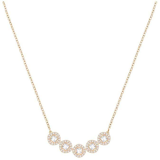 Swarovski Crystal White Angelic Square Rose Gold-Plated Necklace 5351305