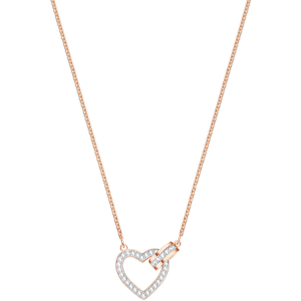 Swarovski Jewelry Lovely Necklace White Rose Gold Plating 5368540
