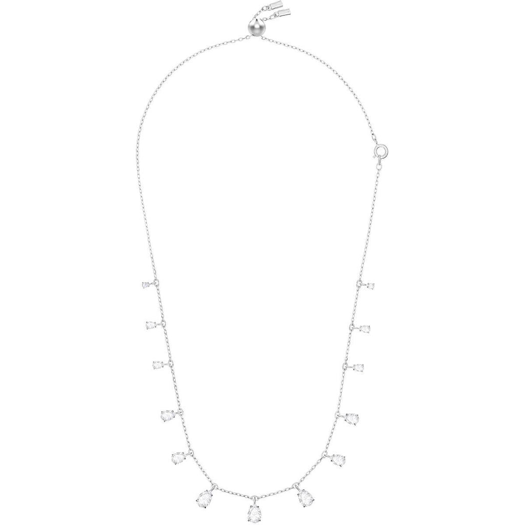 Attract Pear Necklace White Rhodium Plating 5384371