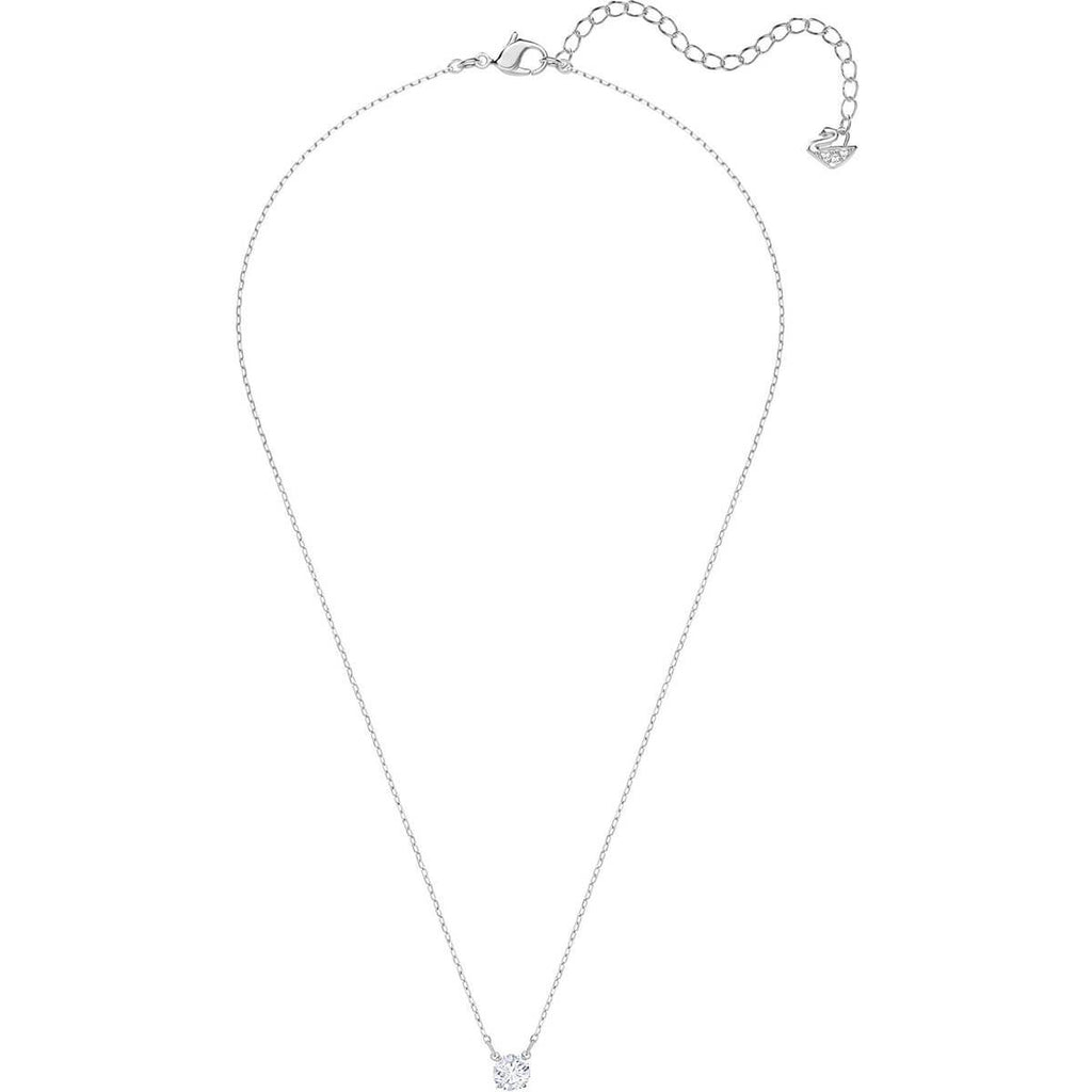 Attract Round Necklace White Rhodium Plating 5408442