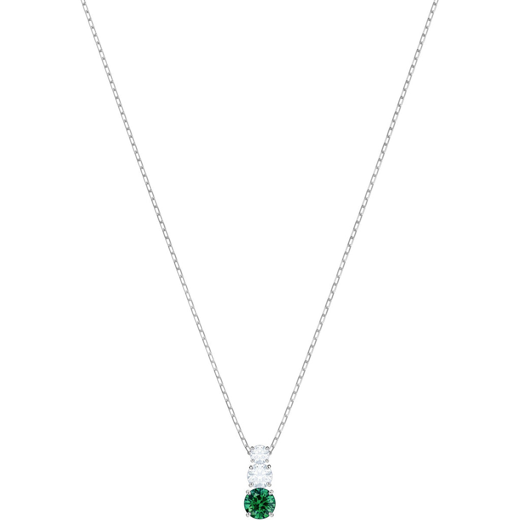 Swarovski Jewelry Attract Trilogy Round Pendant Green Rhodium Plating 5416153