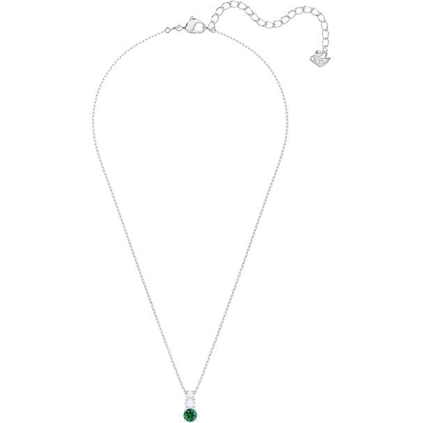 Attract Trilogy Round Pendant Green Rhodium Plating 5416153