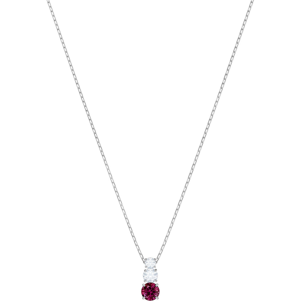 Swarovski Jewelry Attract Trilogy Round Pendant Red Rhodium Plating 5447060
