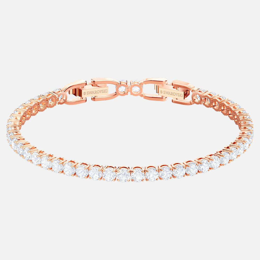 Swarovski Jewelry Tennis Bracelet White Rose Gold Tone Plated 5464948
