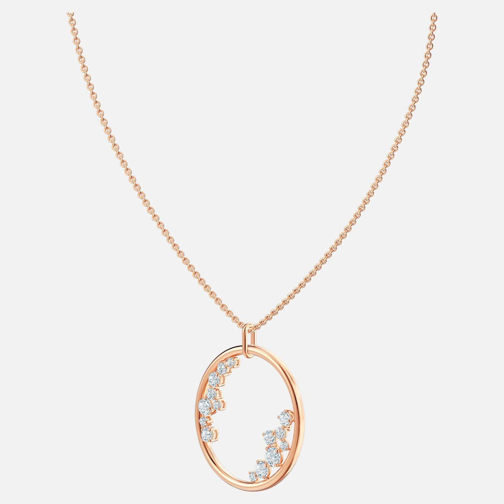 Swarovski Jewelry North Pendant White Rose Gold Tone Plated 5487069