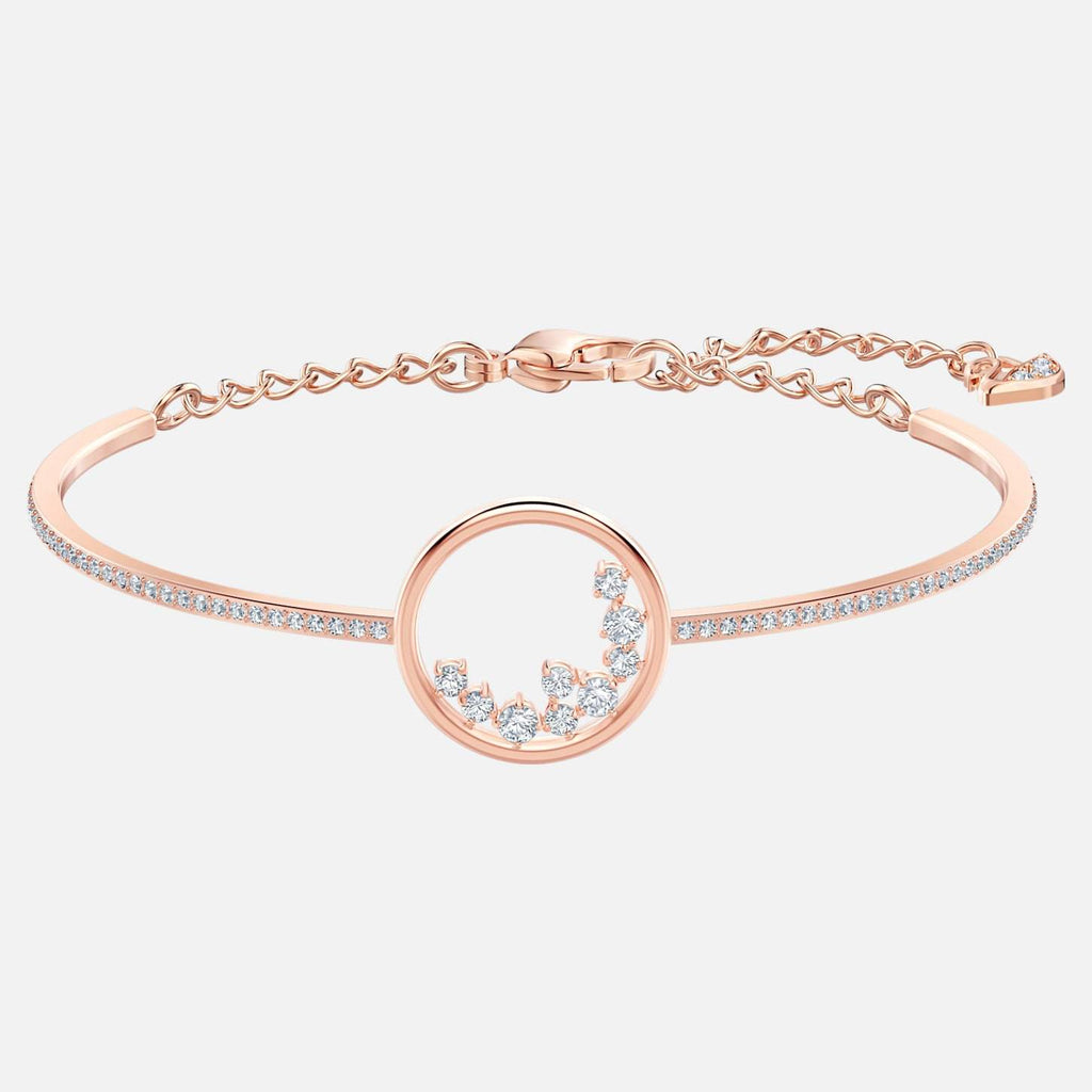 Swarovski Jewelry North Bracelet White Rose Gold Tone Plated 5493393