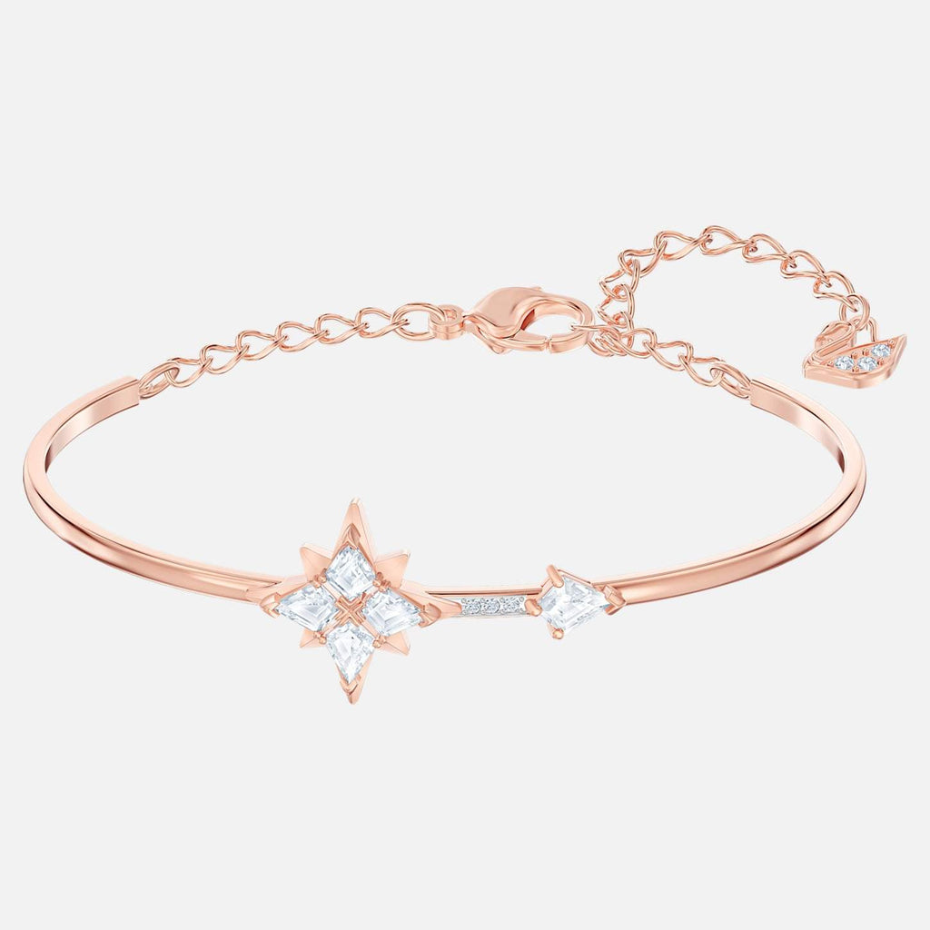 Swarovski Jewelry Symbolic Bangle White Rose Gold Tone Plated 5494338