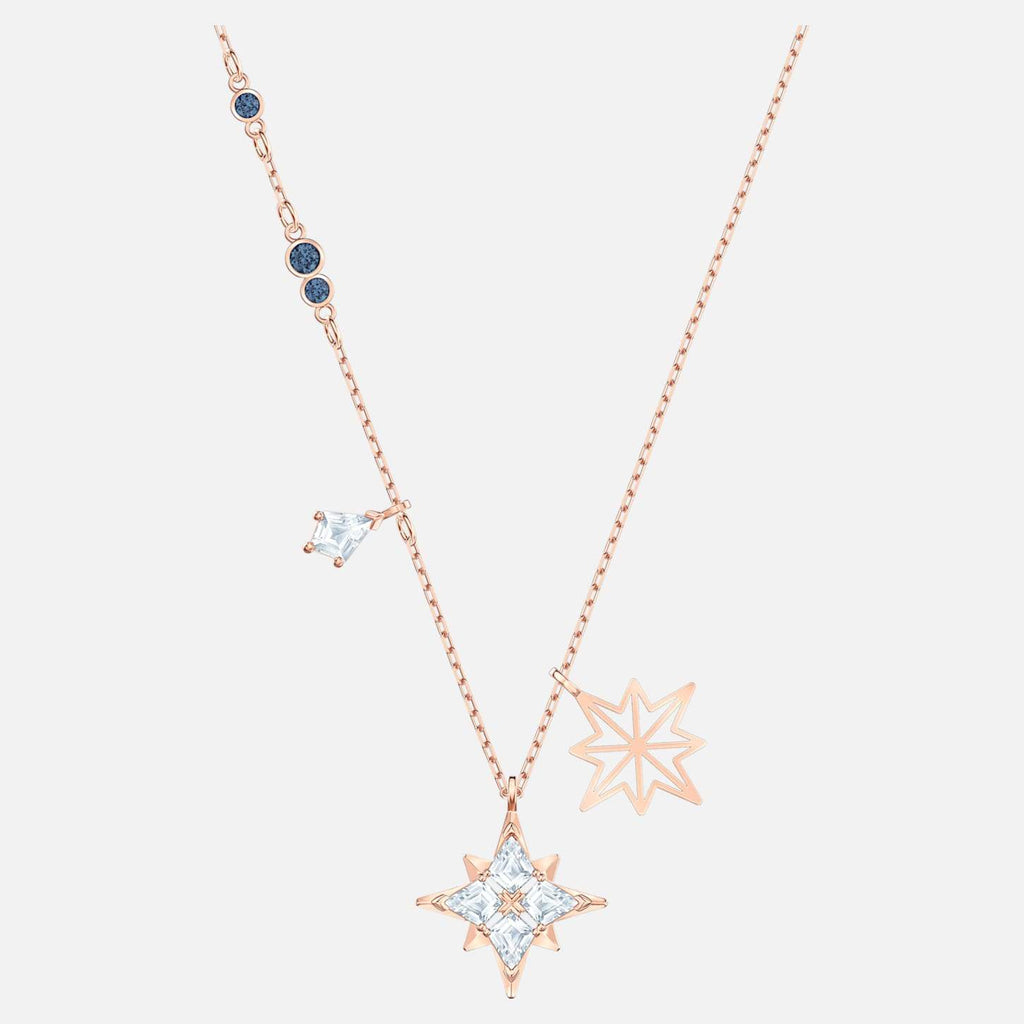 Swarovski Jewelry Symbolic Star Pendant White Rose Gold Tone Plated 5494352