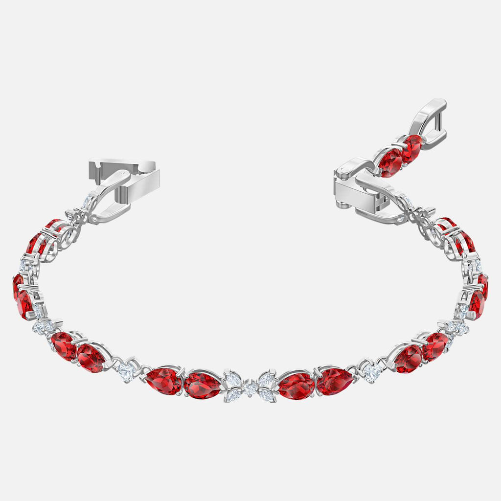 Swarovski Jewelry Louison Bracelet Red Rhodium Plated 5495264