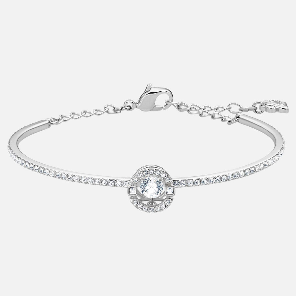 Swarovski Jewelry Sparkling Dance Bangle White Rhodium Plated 5497478
